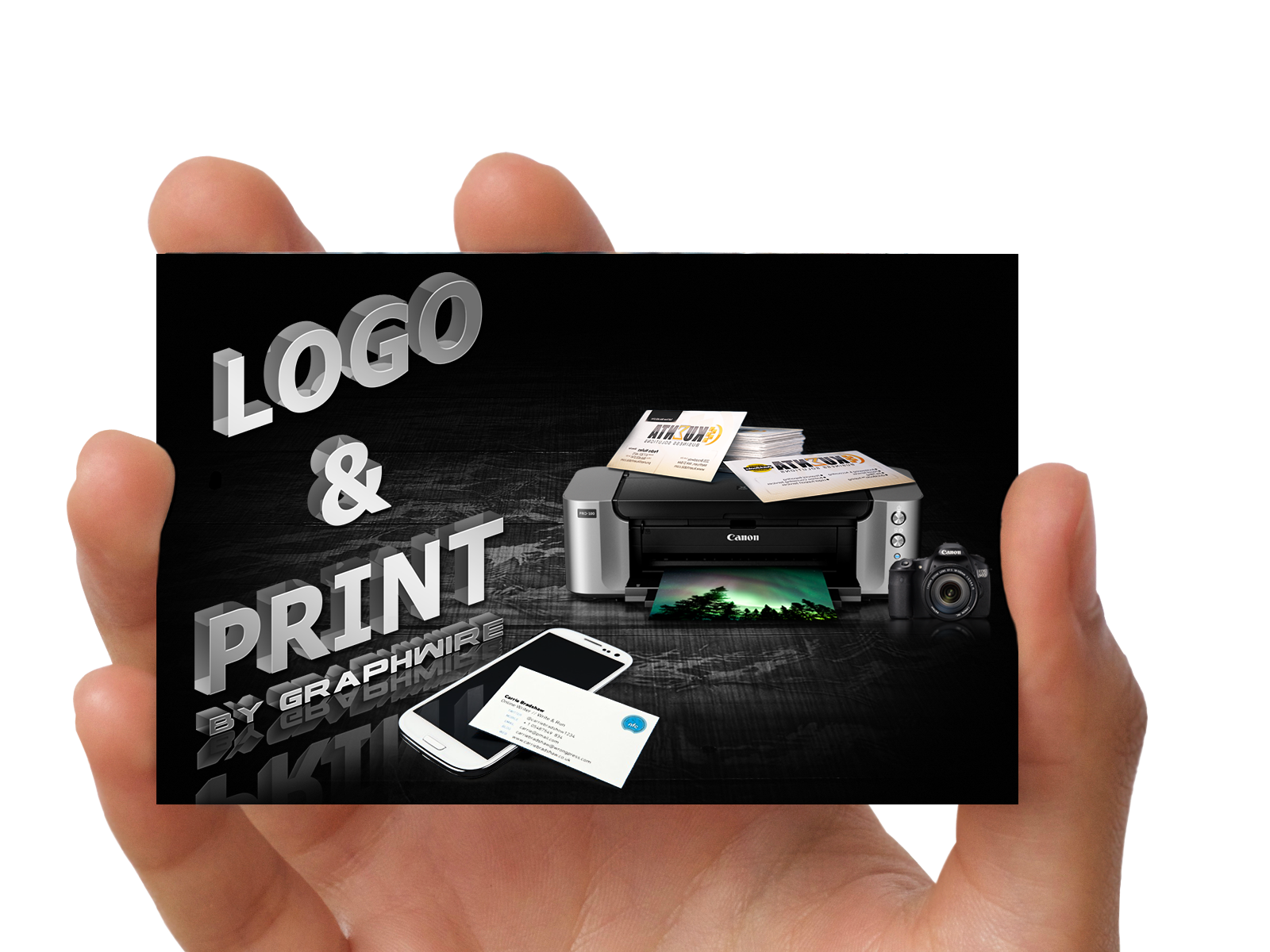 logo print photo manipulation